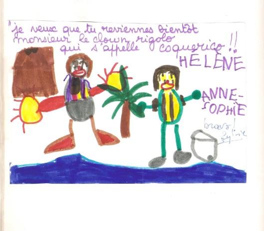 Dessin  ( Alix sur son île flottante ) 001