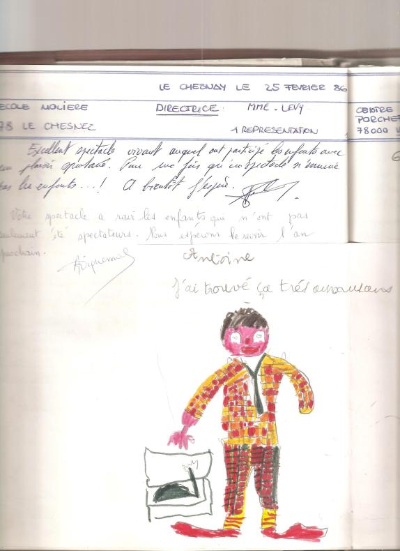Dessin  d'Alix  (le clown et la poupée ) 001