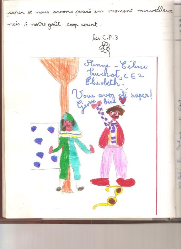 Dessin   (le clown et la poupée ) 002