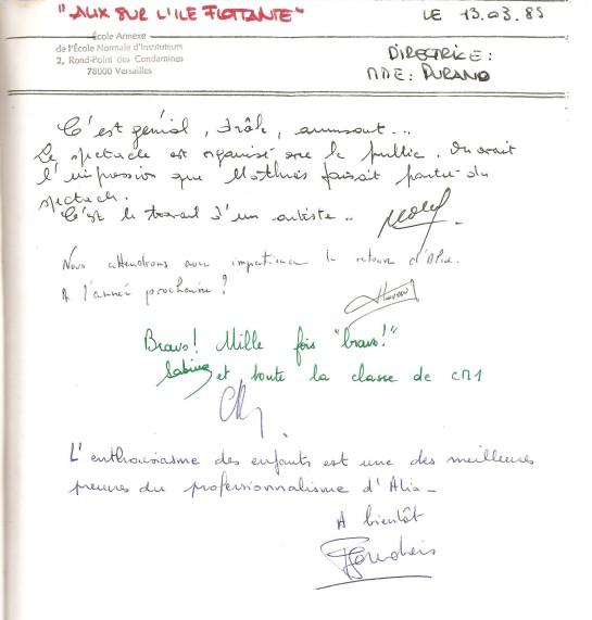 livre d'or 1989 Elém Versailles 001