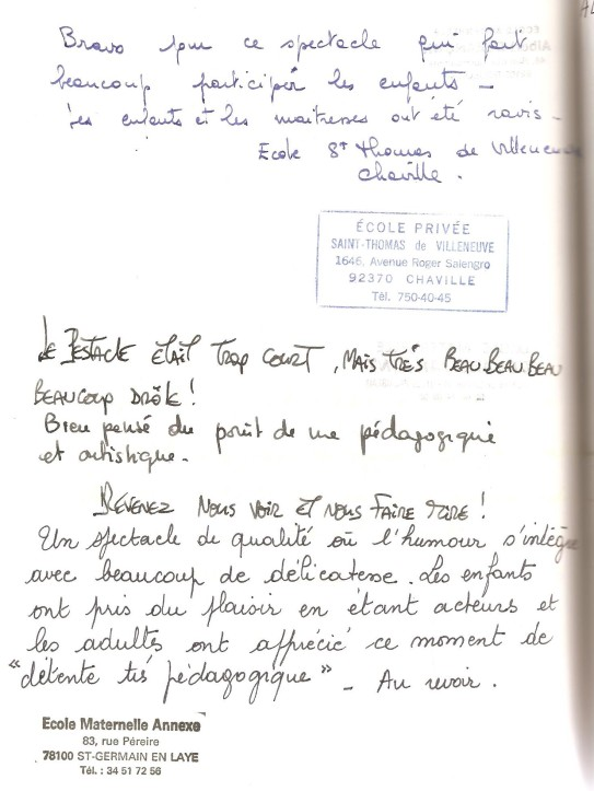 livre d'or 1994 Ecole Privée St Thomas + Mat 001
