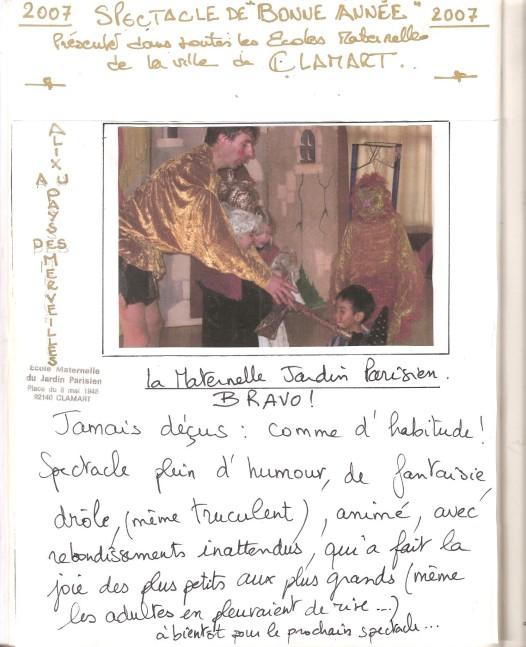 livre d'or 2007 Ecoles de Clamart Noël 001